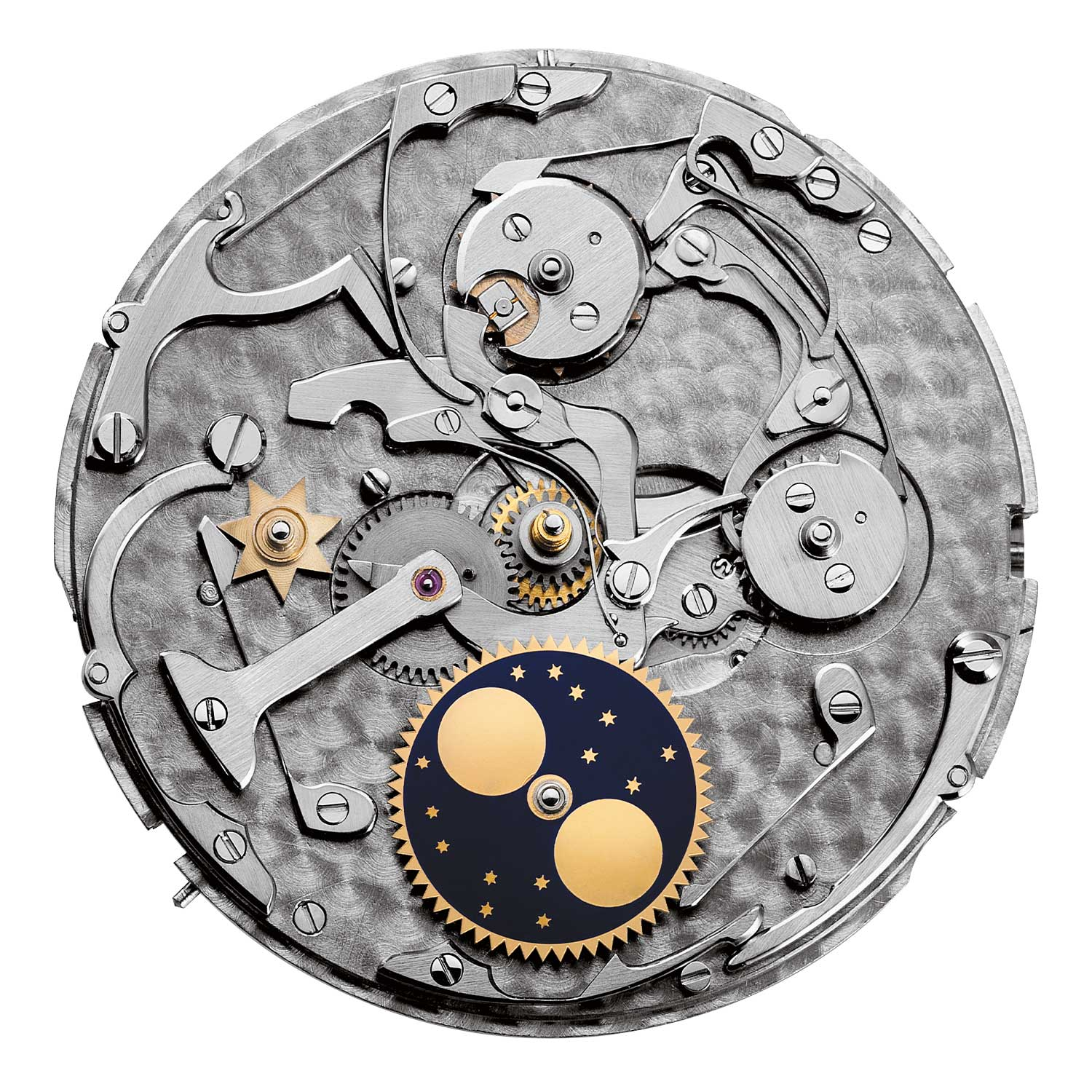 A view of what is under the dial for watches powered by the 2120/2800 movement