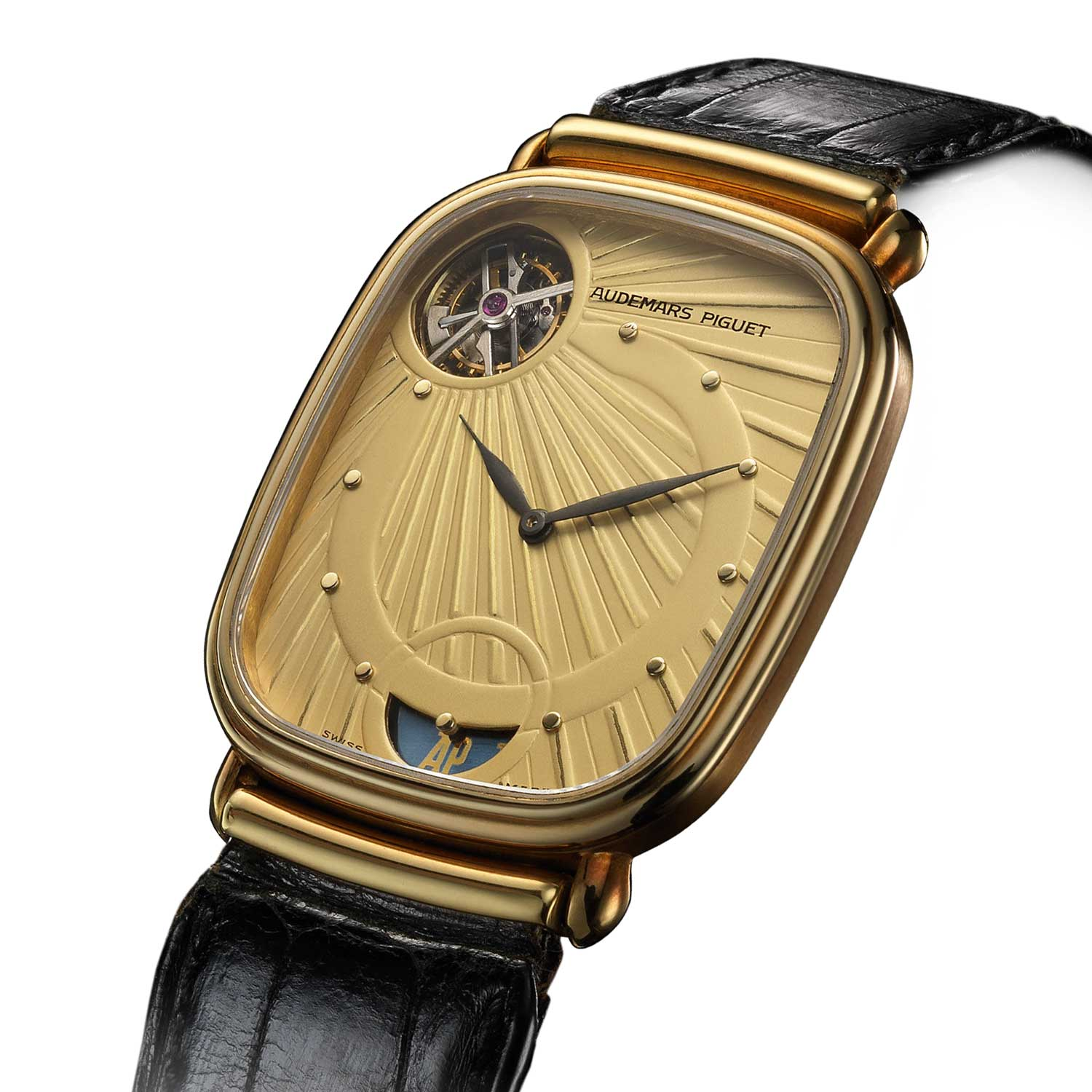 A prime example of Jacqueline Dimier,'s design work is the 1986 Audemars Piguet Tourbillon, calibre 2870