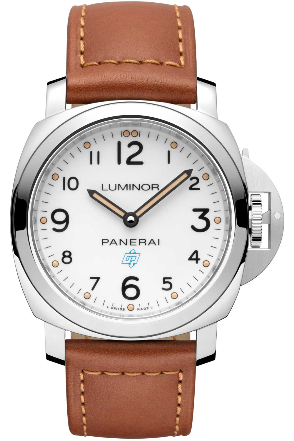 """The PAM775 features the throwback """"OP"""" logo from Panerai's first publicly sold collection of watches."""