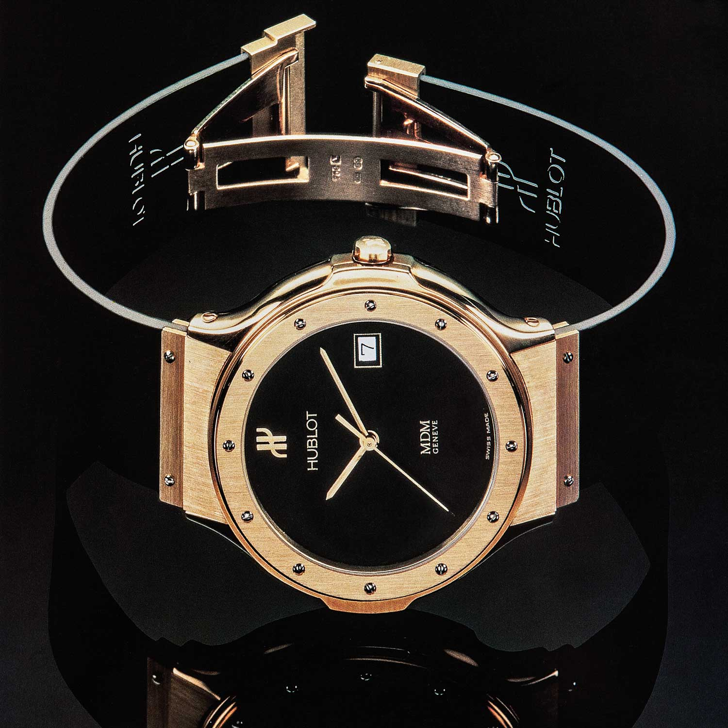 MDM Geneve's original 1980 Hublot, the world's first luxury sports chic watch on a rubber strap