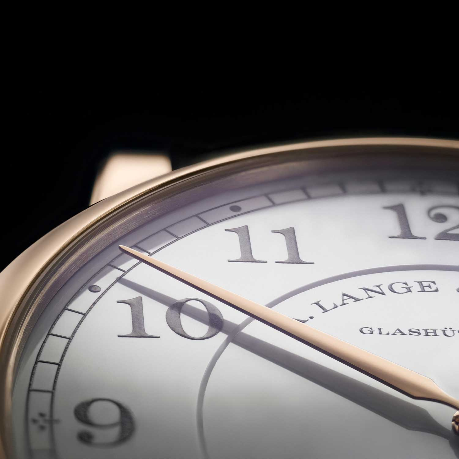 """A close look at the enamel dial of the 1815 Thin Honeygold """"Homage to F. A. Lange"""""""