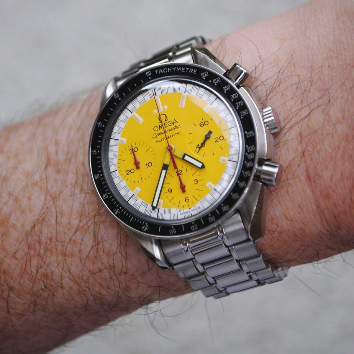 King Nerd was attracted to the bright yellow colour of the dial
