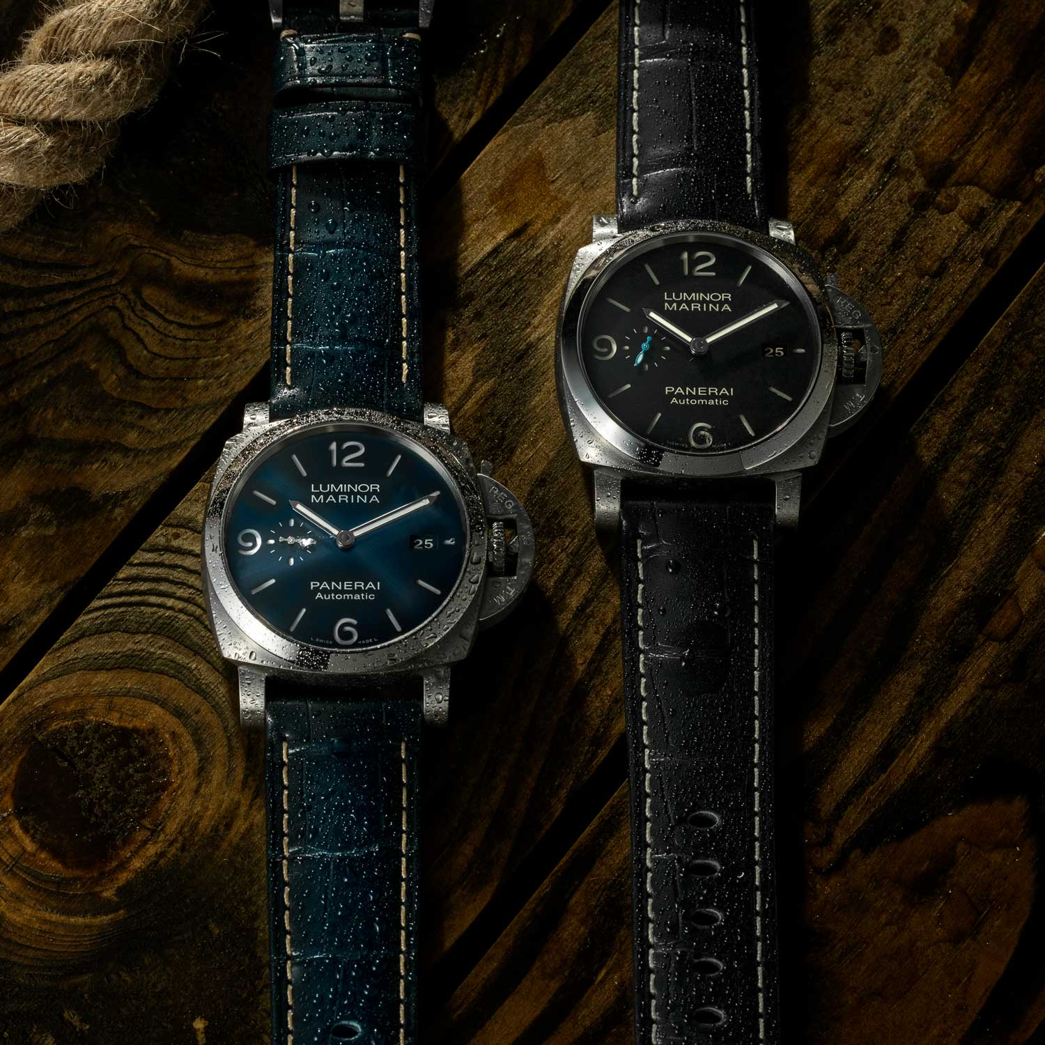 The PAM01313 and PAM01312, perfect for underwater adventures, piloting a craft in the America's Cup, sailing the Amalfi Coast, or simply lifting a glass of rosé at the local trattoria. (©Revolution)