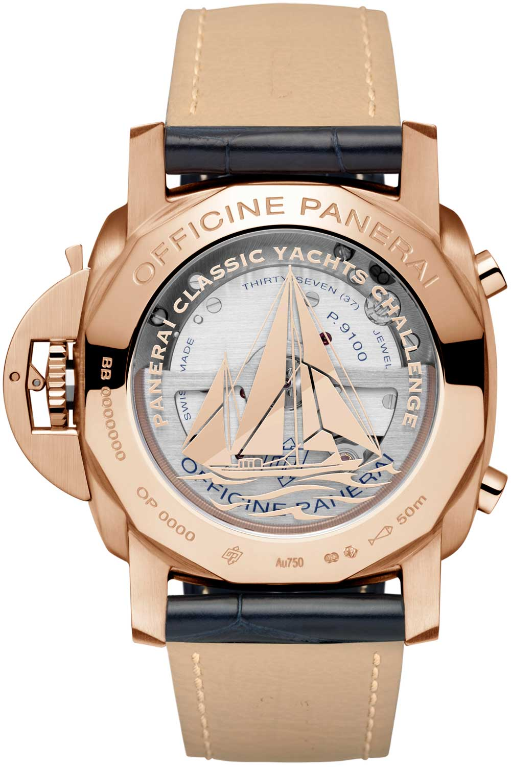 """For the modern-day sailor, the PAM1020 commemorates the Panerai Classic Yacht Challenge """"PCYC."""""""