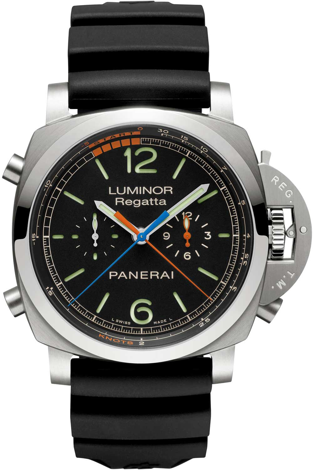 The PAM0526 is a classic Luminor that houses Panerai's in house movement with a regatta timer, the only function in watchmaking made exclusively for sailing.