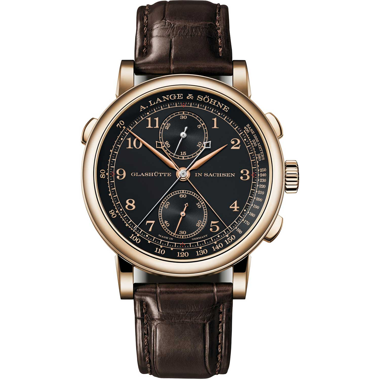"""The 1815 Rattrapante Honeygold """"Homage to F. A. Lange"""""""