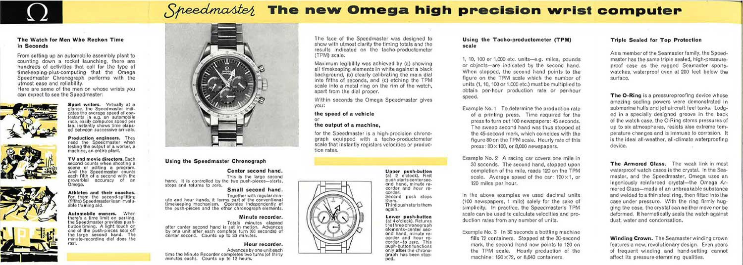 The Omega Speedmaster started its history as a racing chronograph