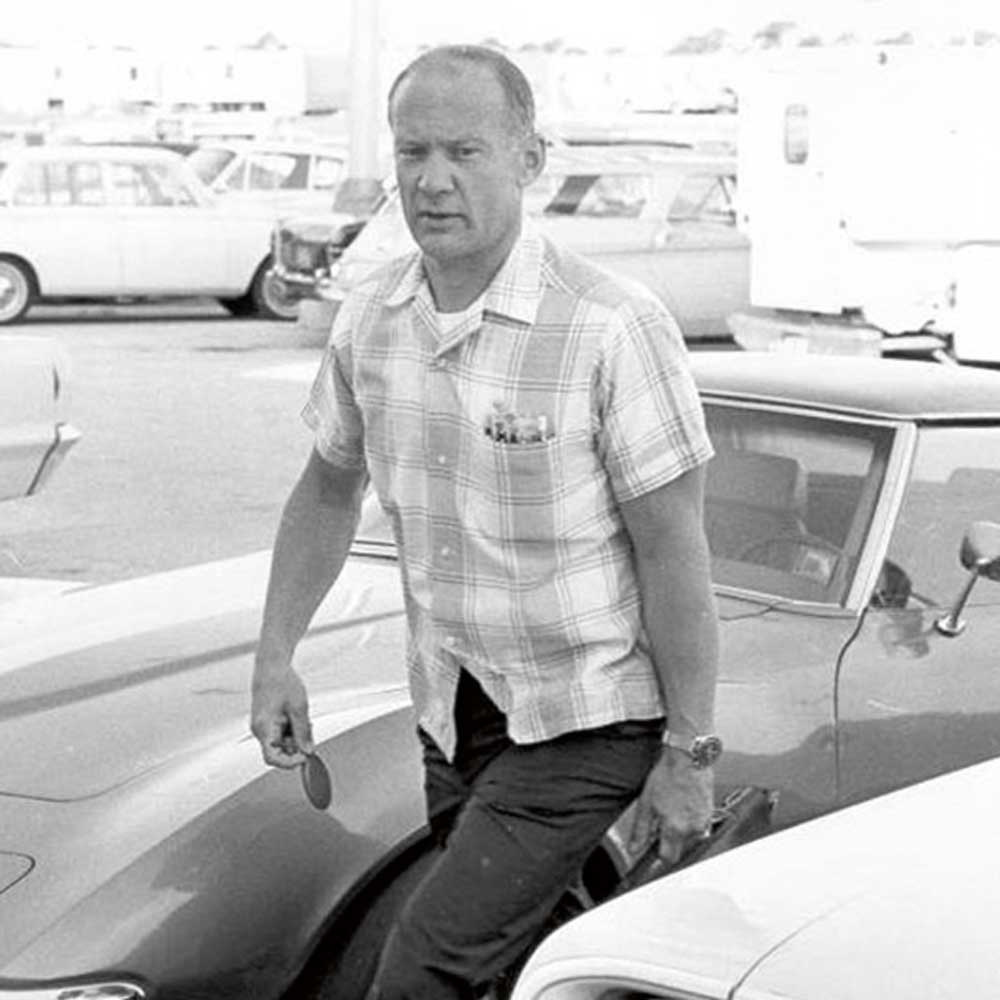 Some astronauts, like Buzz Aldrin, were known to wear the Speedmaster off duty as well, seen here on the mesh-type JB Champion strap.