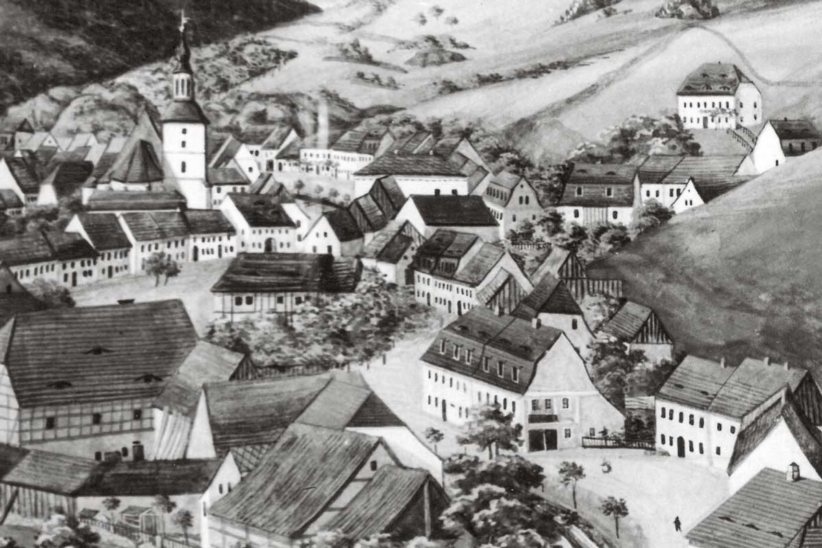 The town of Glashütte