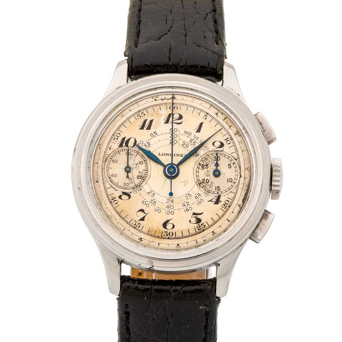 A Longines Ref. 20448 fly-back chronograph with 13ZN calibre (Image: Antiquorum)