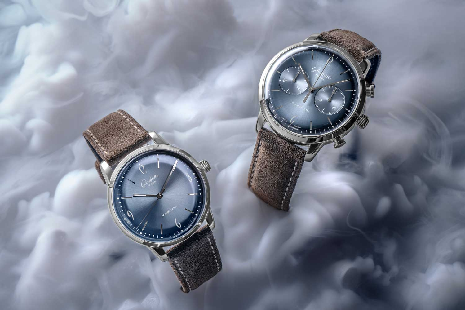 The shimmering cloud-like glacier blue dial of the vintage collections Sixties takes its place as this year's annual special edition for 2020. (©Revolution)