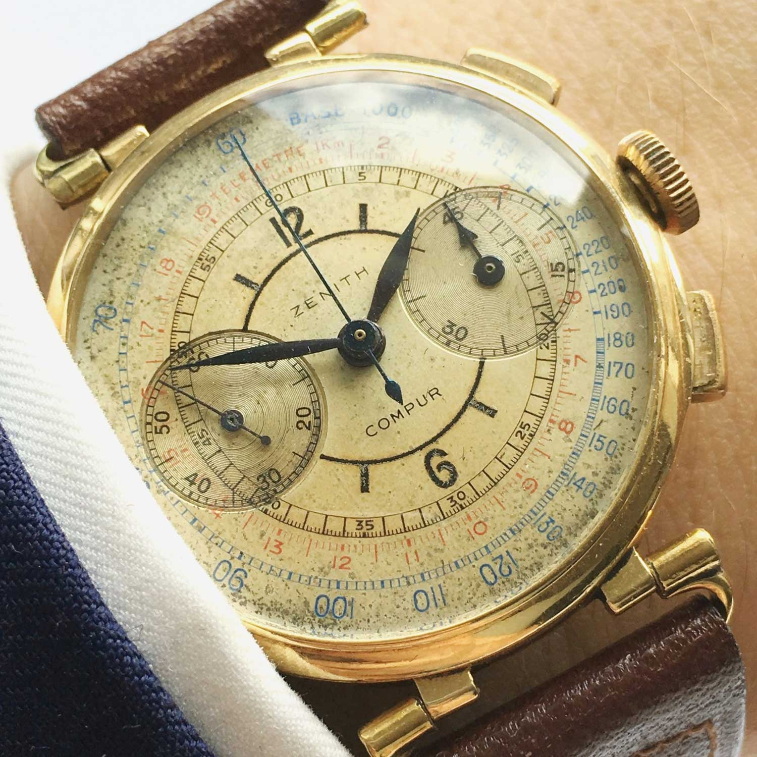 A 1930's early Zenith Sector dial Chronograph (Image: Vintage Portfolio)