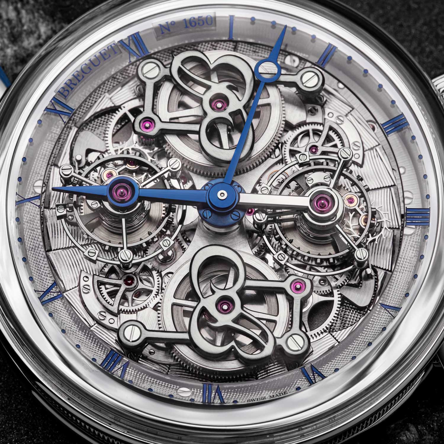 A close look at the dial — or the lack there of — the Breguet Classique Double Tourbillon 5345 Quai de L'horloge