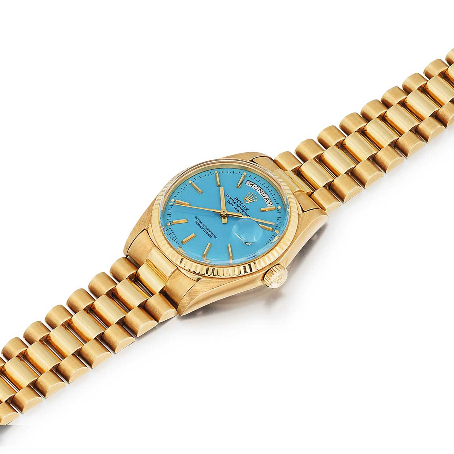 A turquoise dial Stella Day-Date ref. 1803 (Image: sothebys.com)