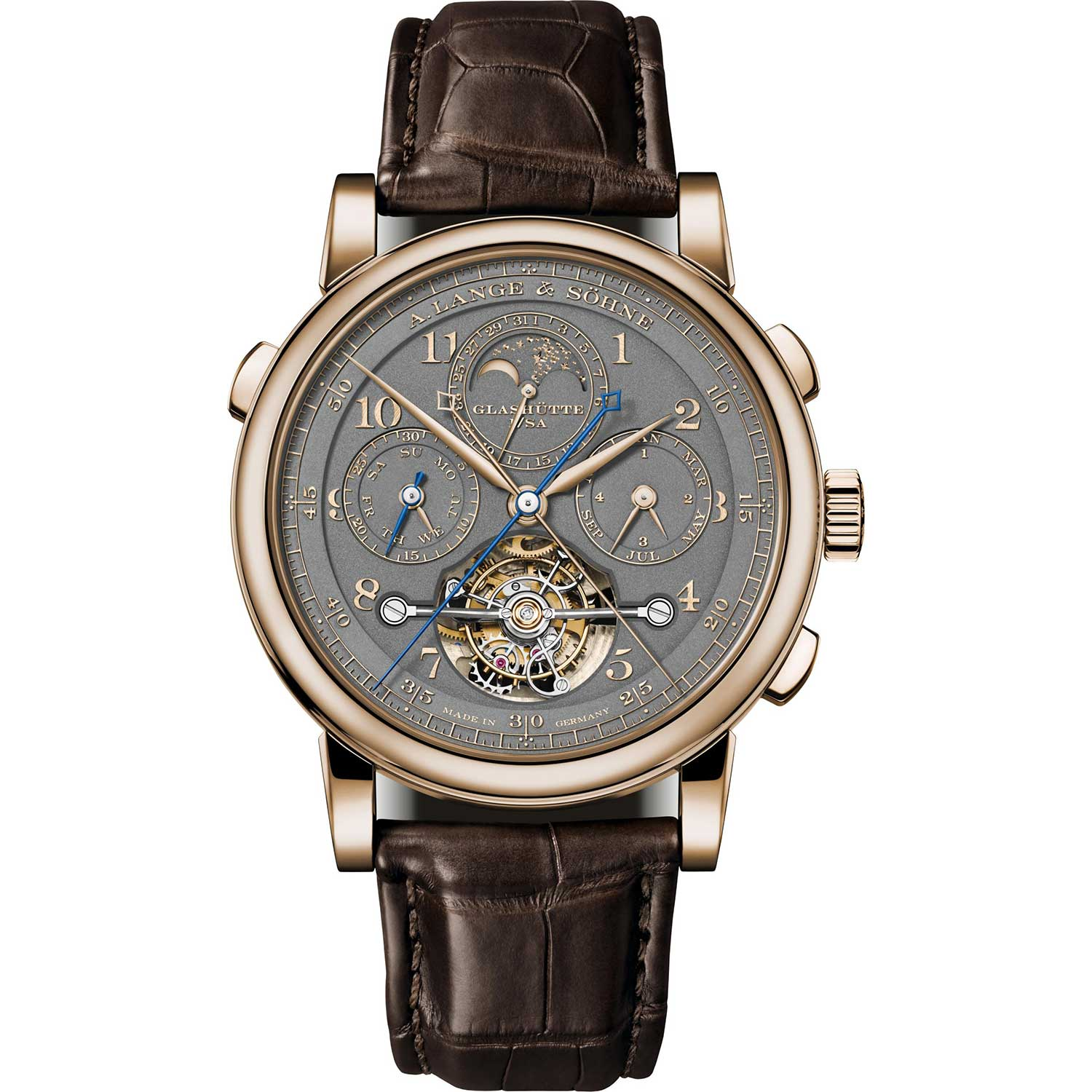 """The Tourbograph Perpetual Honeygold """"Homage to F. A. Lange"""""""