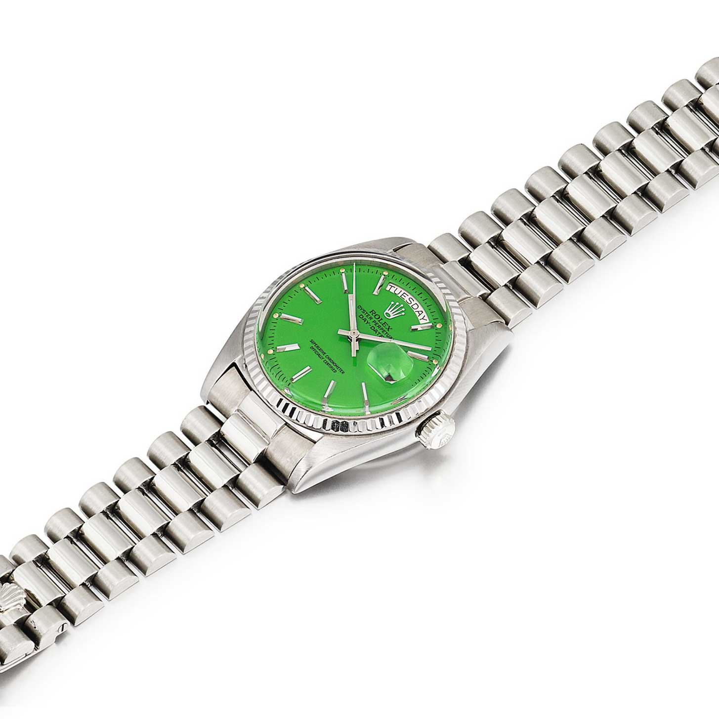 A green dial Stella Day-Date ref. 1803 (Image: sothebys.com)