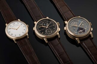 "The 2020 A. Lange & Söhne ""Homage to F. A. Lange"" Collection in Honeygold"