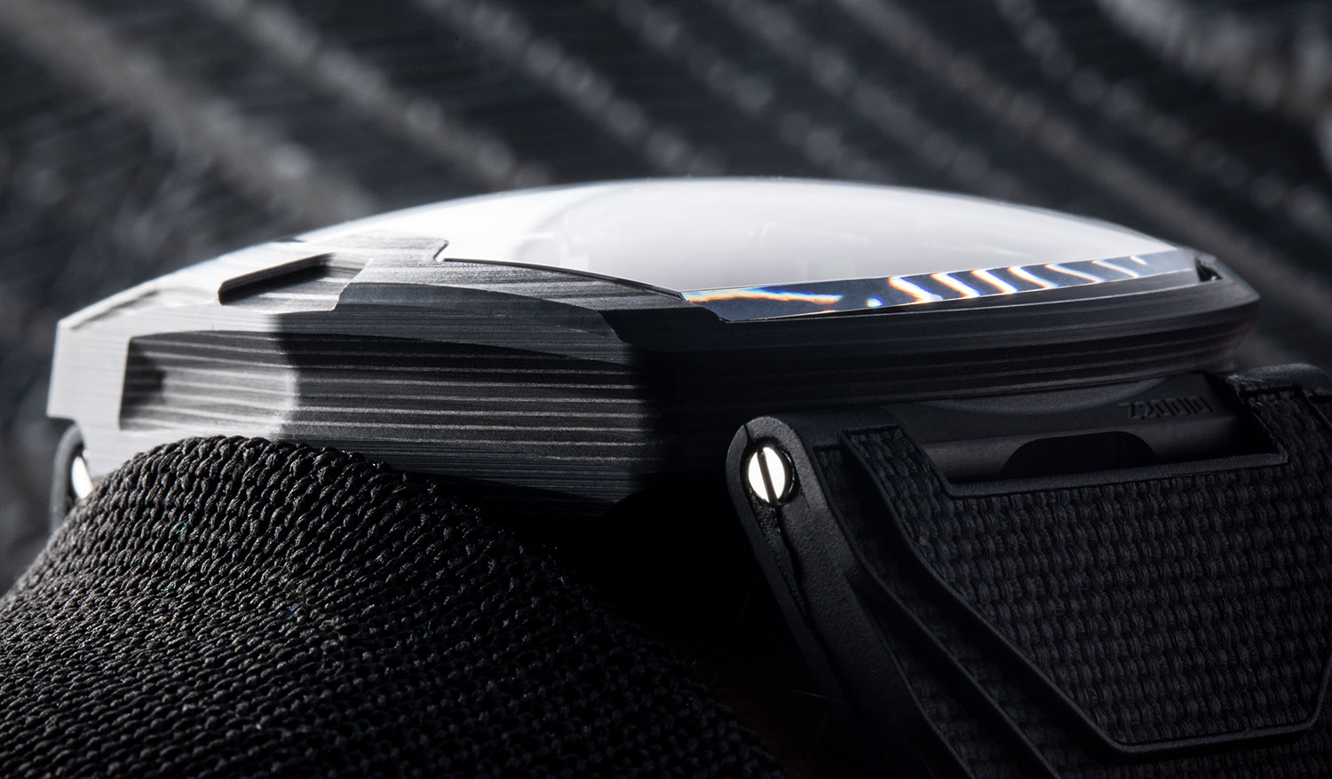 """The carbon layers of the URWERK UR-220 """"Falcon Project"""""""