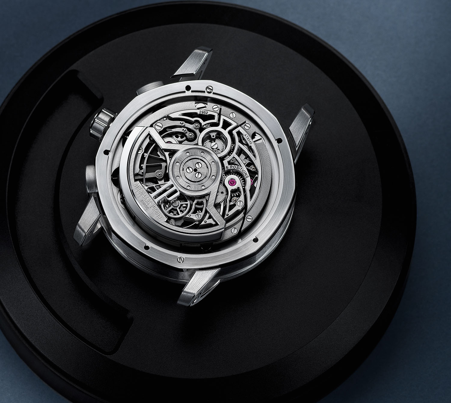 The Caliber 2952 as seen contained within the Code 11.59 by Audemars Piguet Selfwinding Flying Tourbillon Chronograph