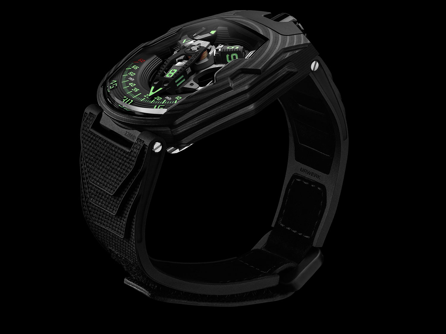 """The URWERK UR-220 """"Falcon Project"""" Carbon Edition"""