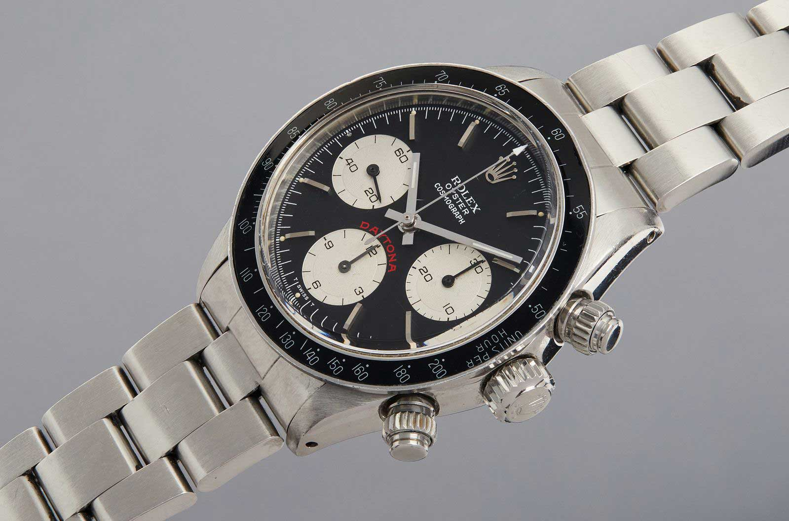 "Paul Newman's ""Big Red"" Rolex Cosmograph Daytona to be auctioned by Phillips at 2020 New York sale, on 12 December (Image: phillipswatches)"