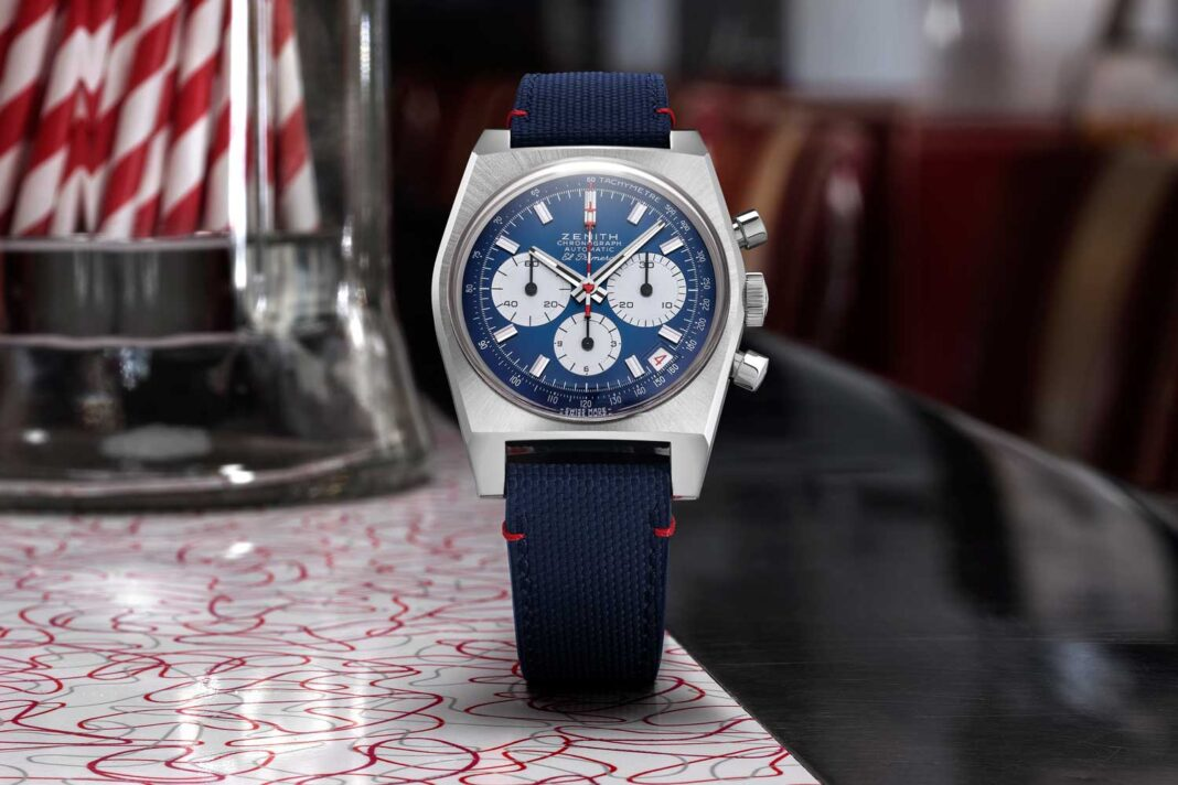 1969 introduced Zenith's El Primero caliber, the world's first high-frequency automatic chronograph movement.