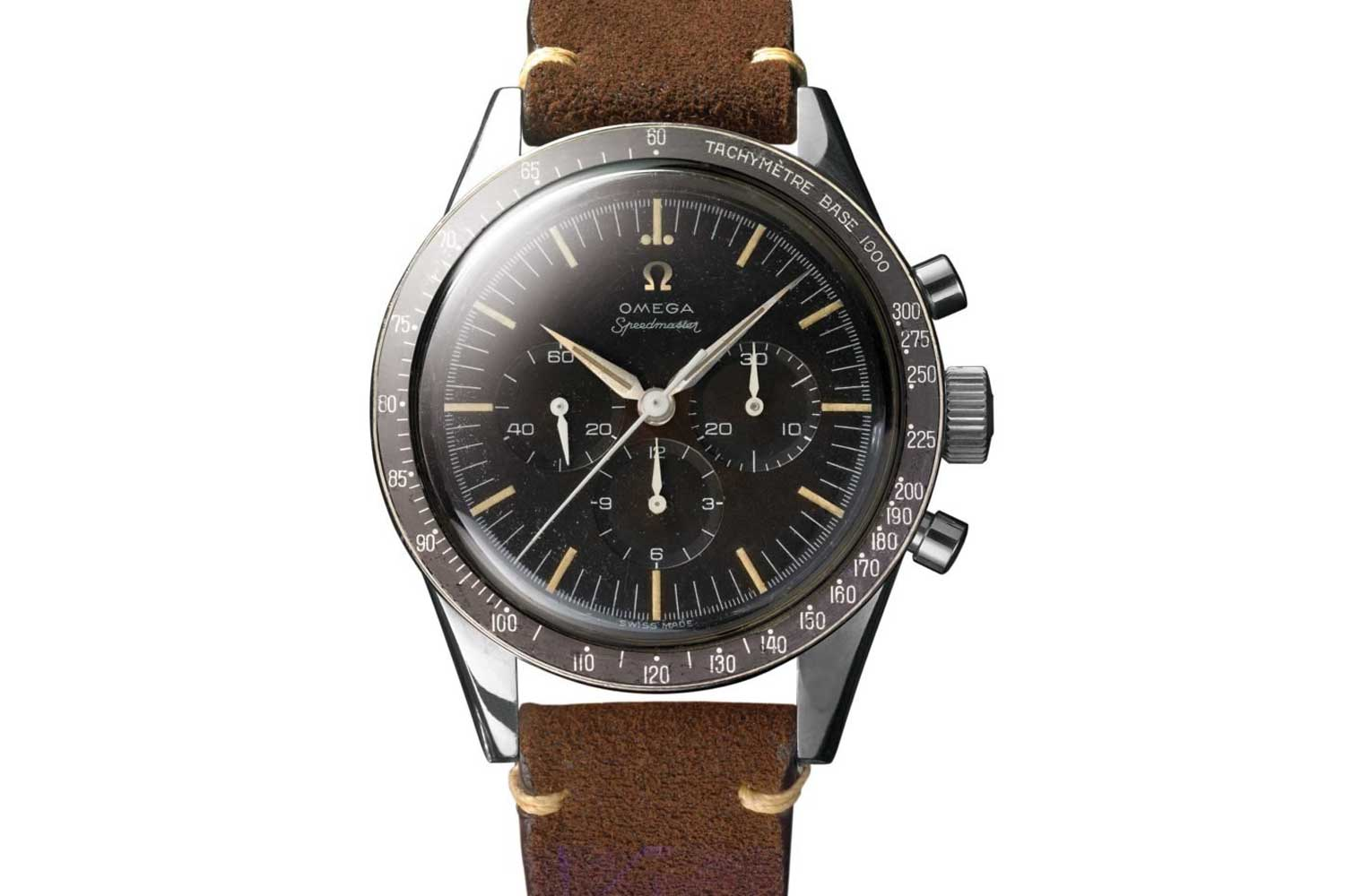 The CK 2998 is the first Omega Speedmaster to go to space, worn by astronaut Walter Schirra (it was his personal watch) when he orbited the Earth six times in the Sigma 7 spacecraft on October 3, 1962.