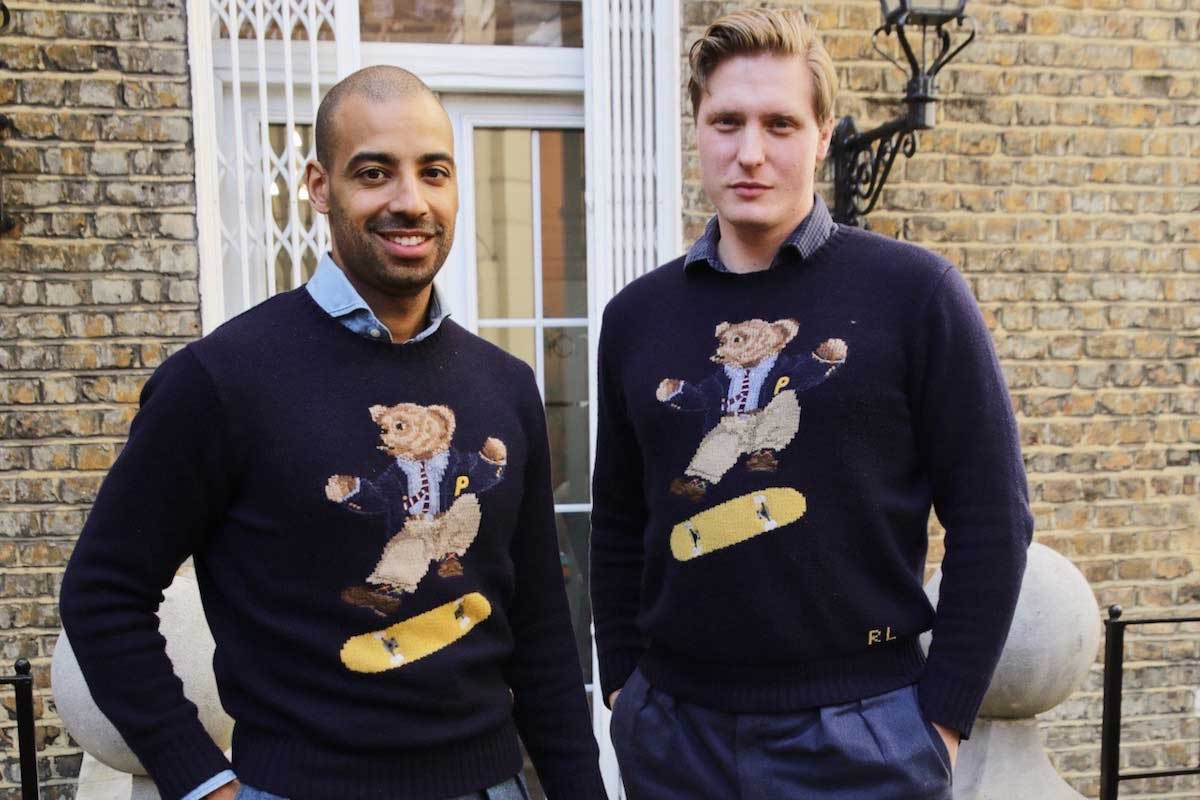 CEO of The Rake, Alain Gafundi and Tom Chamberlin, Editor of The Rake in coincidentally matching Polo Bear sweaters