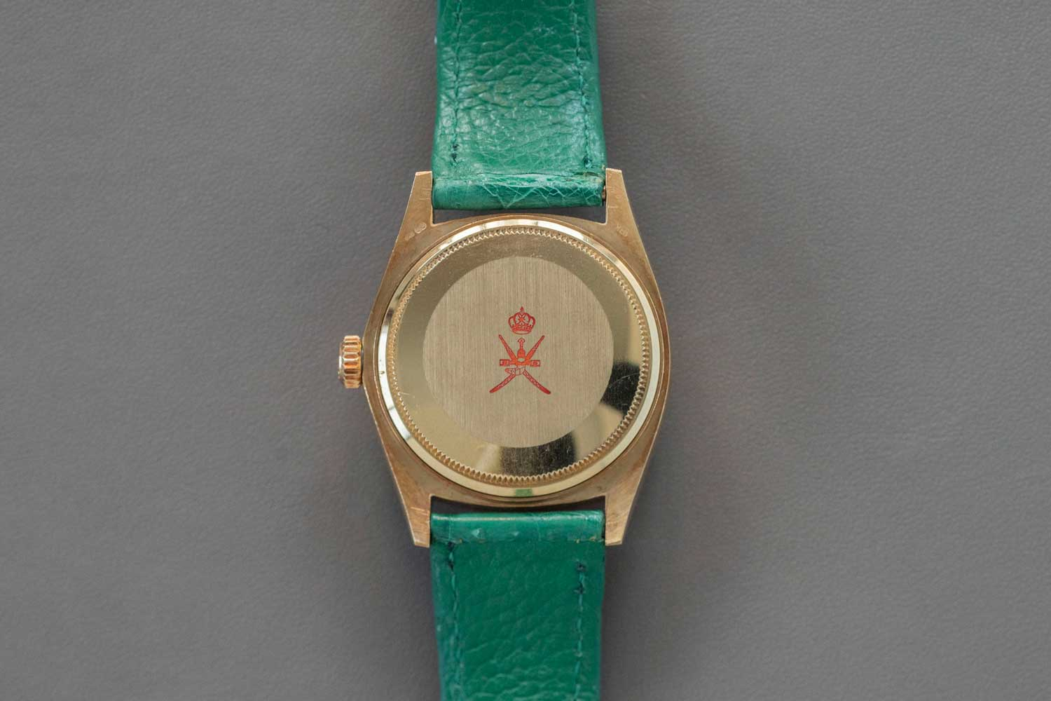 Super rare turquoise Rolex Stella Khanjar ref. 18078 (circa 1980); note that the Khanjar stamp on the dial in this example is at an unusual 9 o'clock placement (©Revolution)