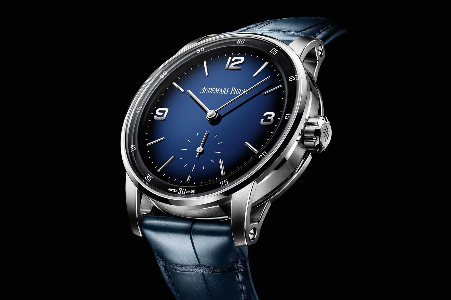 The Code 11.59 by Audemars Piguet Minute Repeater Supersonnerie with the blue fumé enamel dial