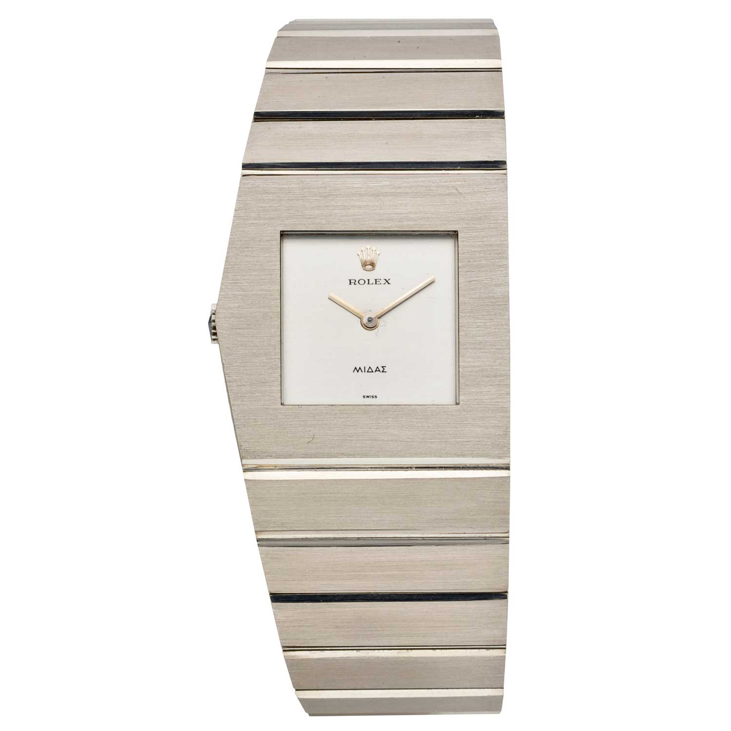 Ref. 4315 in white gold, brushed, with a silver dial, circa 1975
