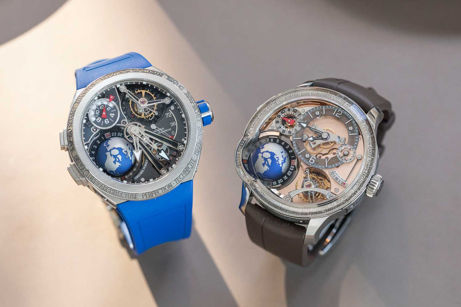 Santa Laura's Greubel Forsey GMT Sport and GMT Earth (©Revolution)