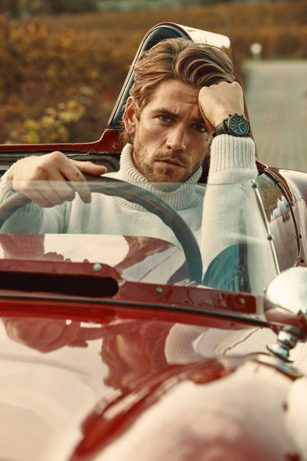 Ben Dahlhaus wearing the Mille Miglia Race Edition _1000 Miglia 2020 (Photo by Adam Fussell)