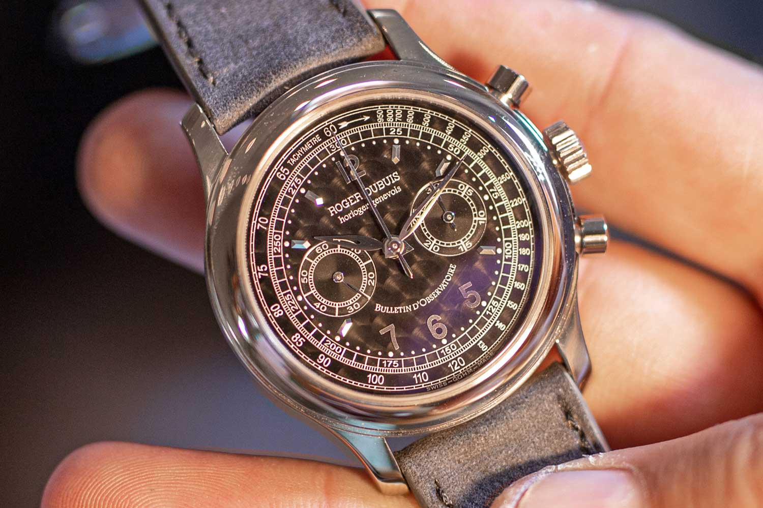 A special Roger Dubuis H40 Hommage with a perlage dial coated in black (Image: mrwatchley.com)