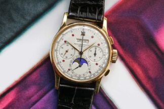 Christie's in Hong Kong is offering an extraordinary Patek Philippe ref. 1518 with Charles Stern's unique and historically important ruby dial. (©Revolution)