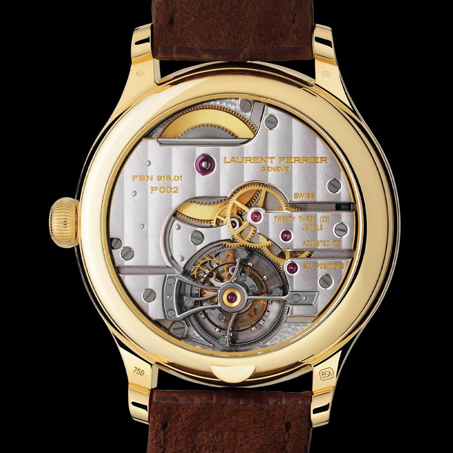 The Galet Classic Tourbillon Double Spiral was chronometer-certified by the Besançon Observatory. The calibre used within had an original device used in the tourbillon escapement, with double inverted hairsprings that kept the balance centred on its axis. This system guaranteed extreme reliability of the regulating system.
