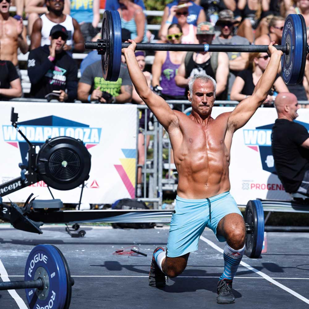 Paramico is an enthusiastic CrossFit competitor. In action, doing some heavy lifting!