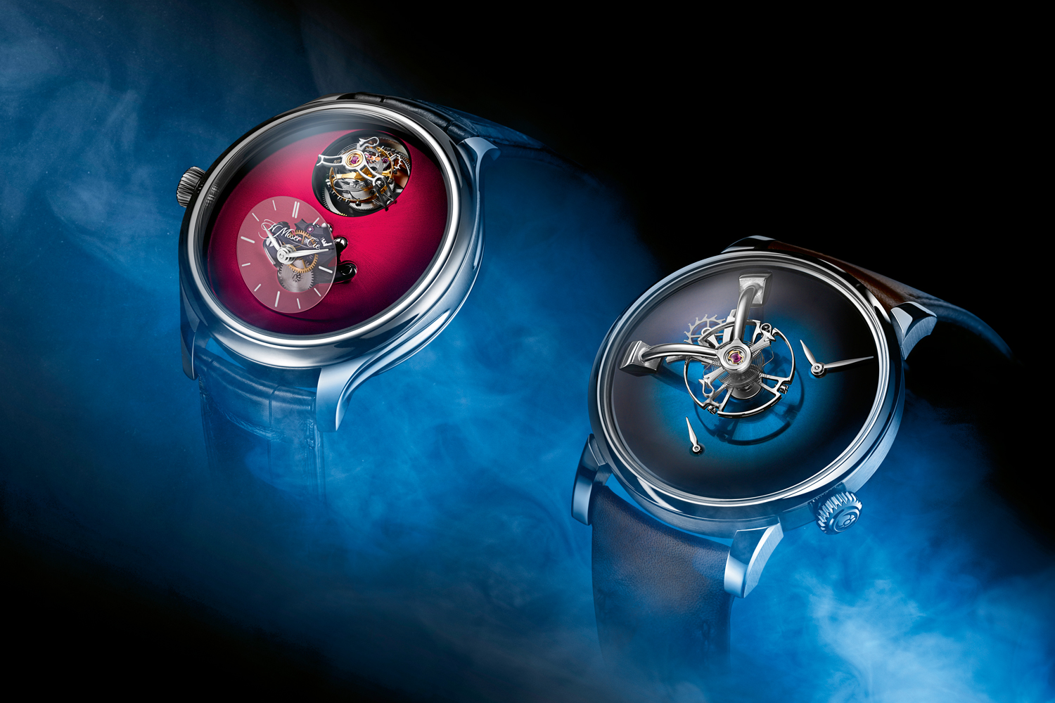 The Endeavour Cylindrical Tourbillon and the LM101 (©Revolution/Photography Munster; Digital Editing KH Koh; Stylist Yong Wei Jian)