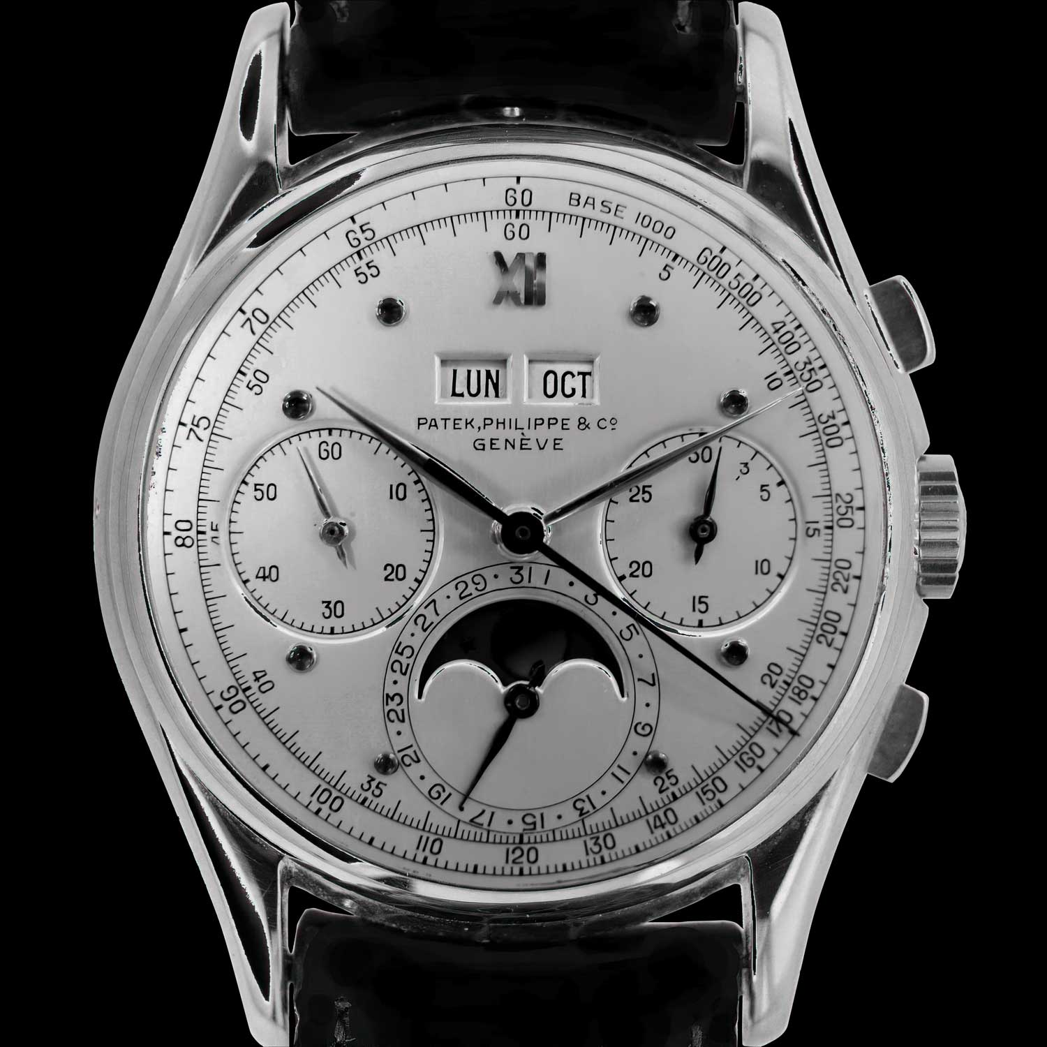 The unique Patek Philippe ref. 1527, as it was delivered in 1944, commissioned by Charles Stern with a unique dial (Photo: Christie's)