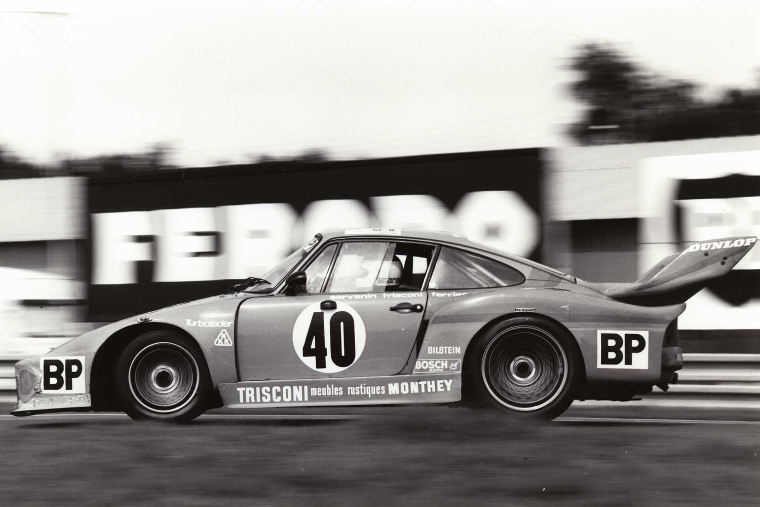 Ferrier's team drove a Porsche 935 at Le Mans, 1979