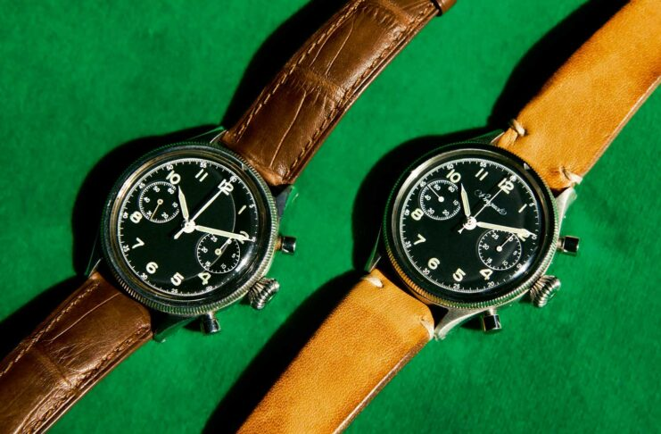 Extraordinary examples of first military versions of the Breguet Type 20 with a signed dial and without.