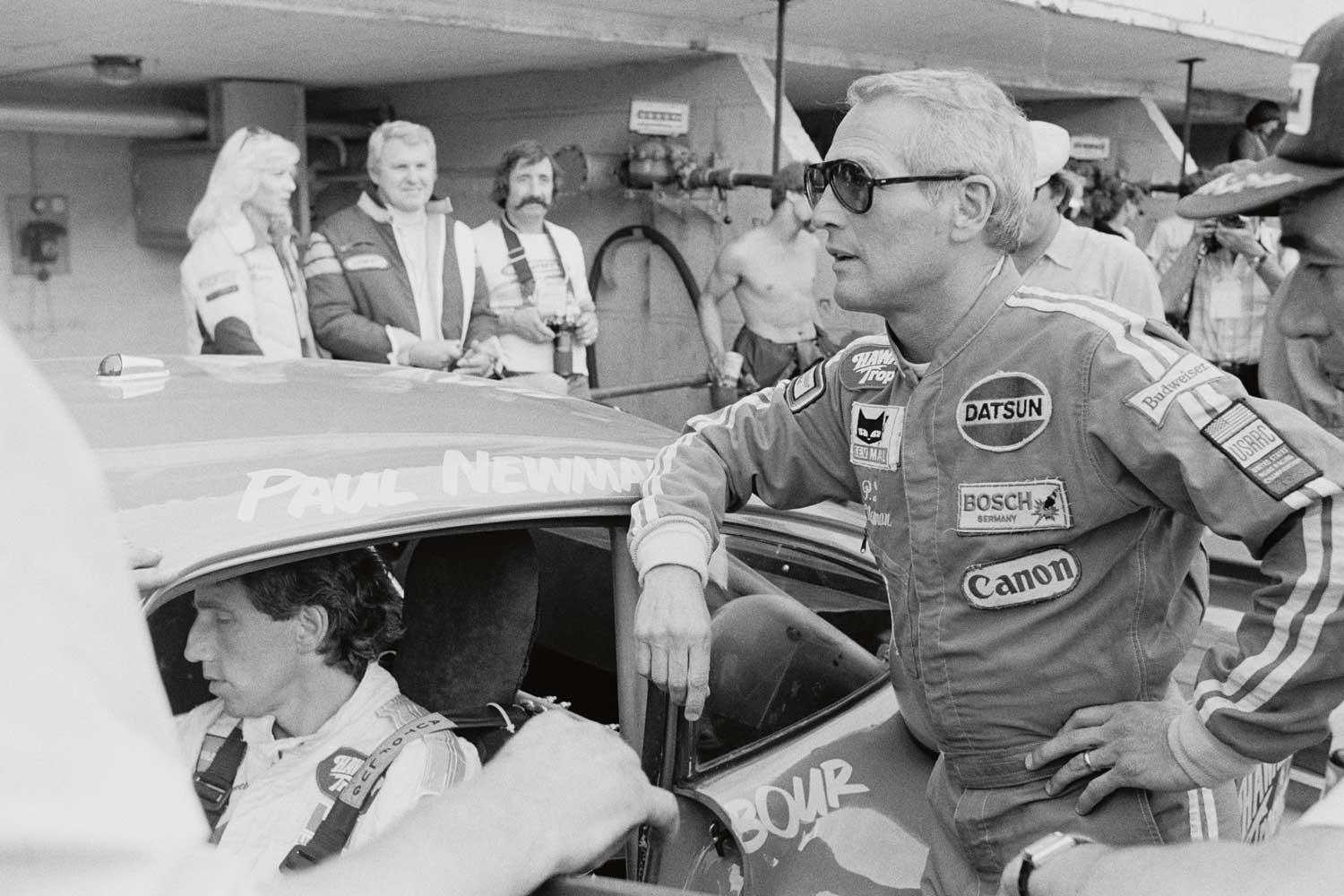 Paul Newman at the 1979 Le Mans race, where his team came in second
