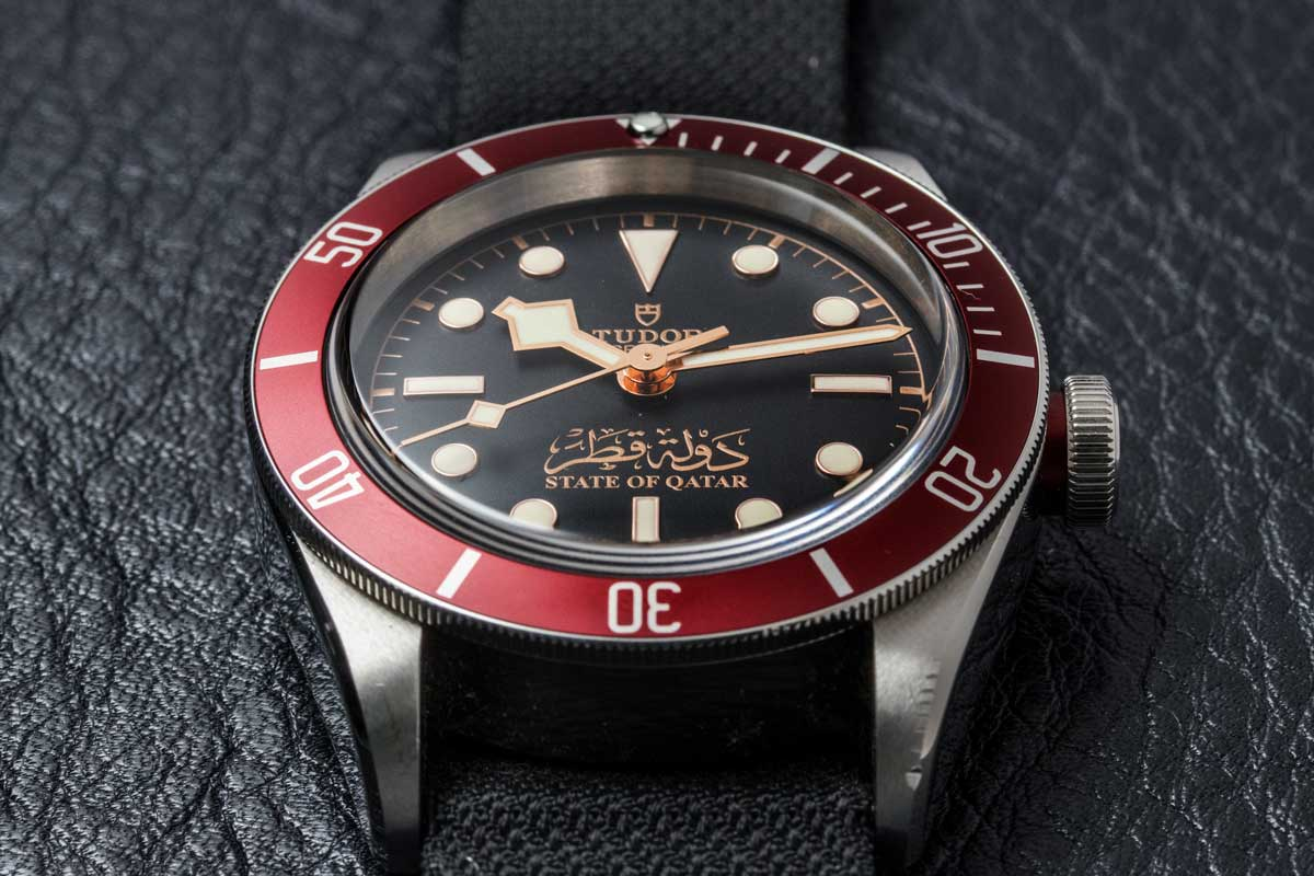 The special issued Tudor Black Bay State of Qatar (© Revolution)