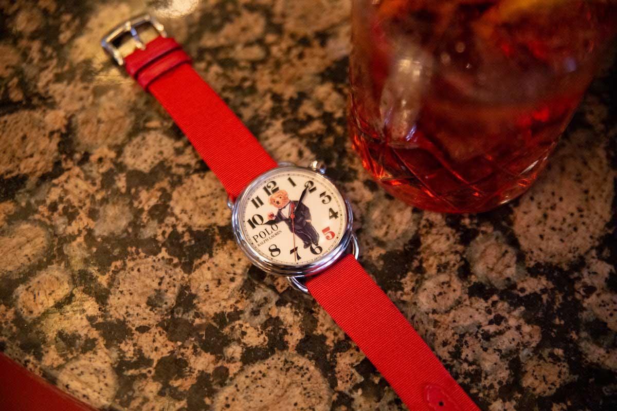 The Rake X Ralph Lauren 'Negroni Bear' Polo Bear Watch