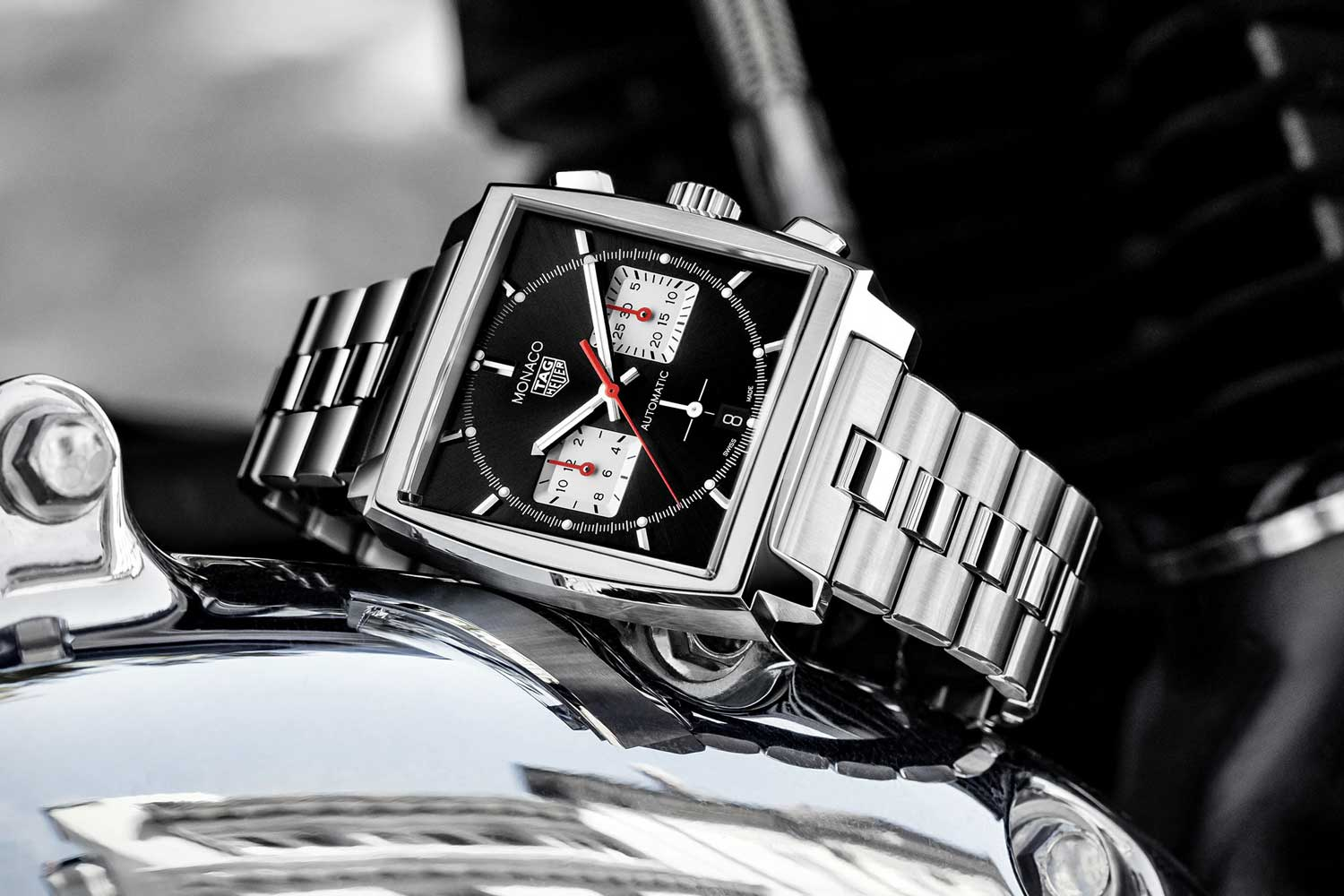TAG Heuer Monaco 39mm with steel strap