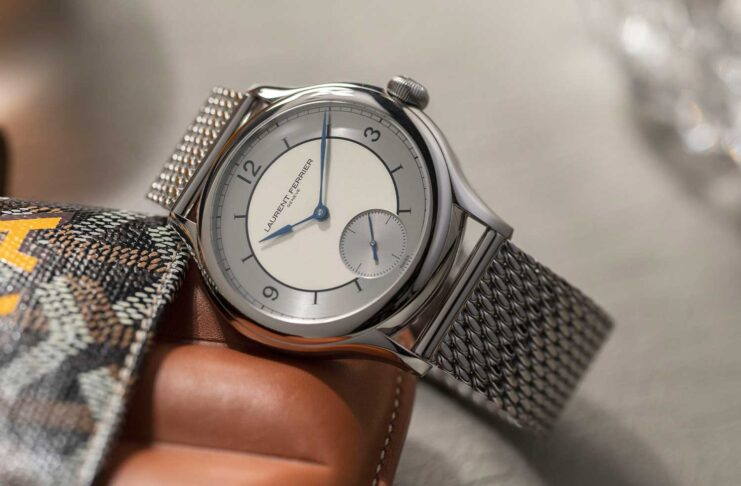 Laurent Ferrier Classic Origin for Revolution & The Rake on the steel beads of rice bracelet (©Revolution)