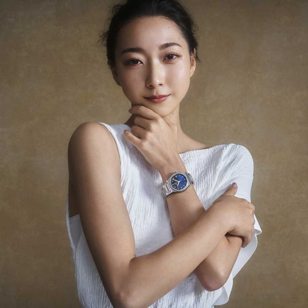 Gymnast and TV personality, Airi Hatakeyama, Ambassadors from the new DREAMHERS global campaign represent accomplished women from around the world for the launch of Zenith's first exclusive ladies collection, the DEFY Midnight.