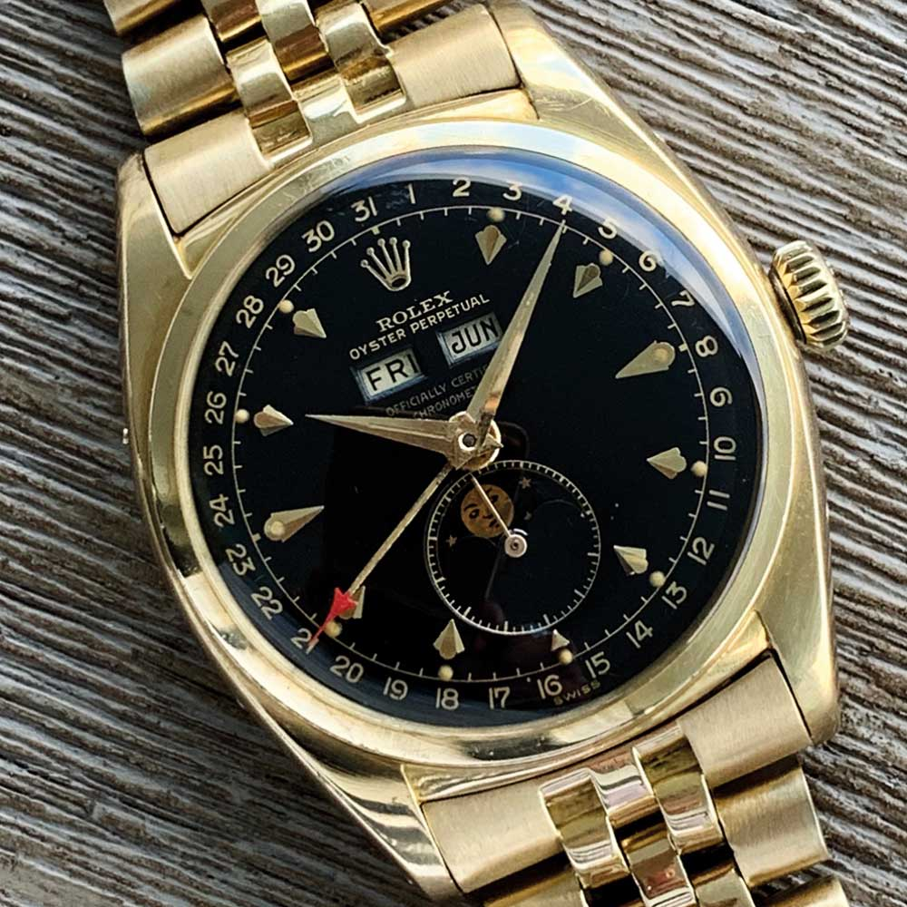Yellow gold Rolex Oyster Perpetual ref 6062.