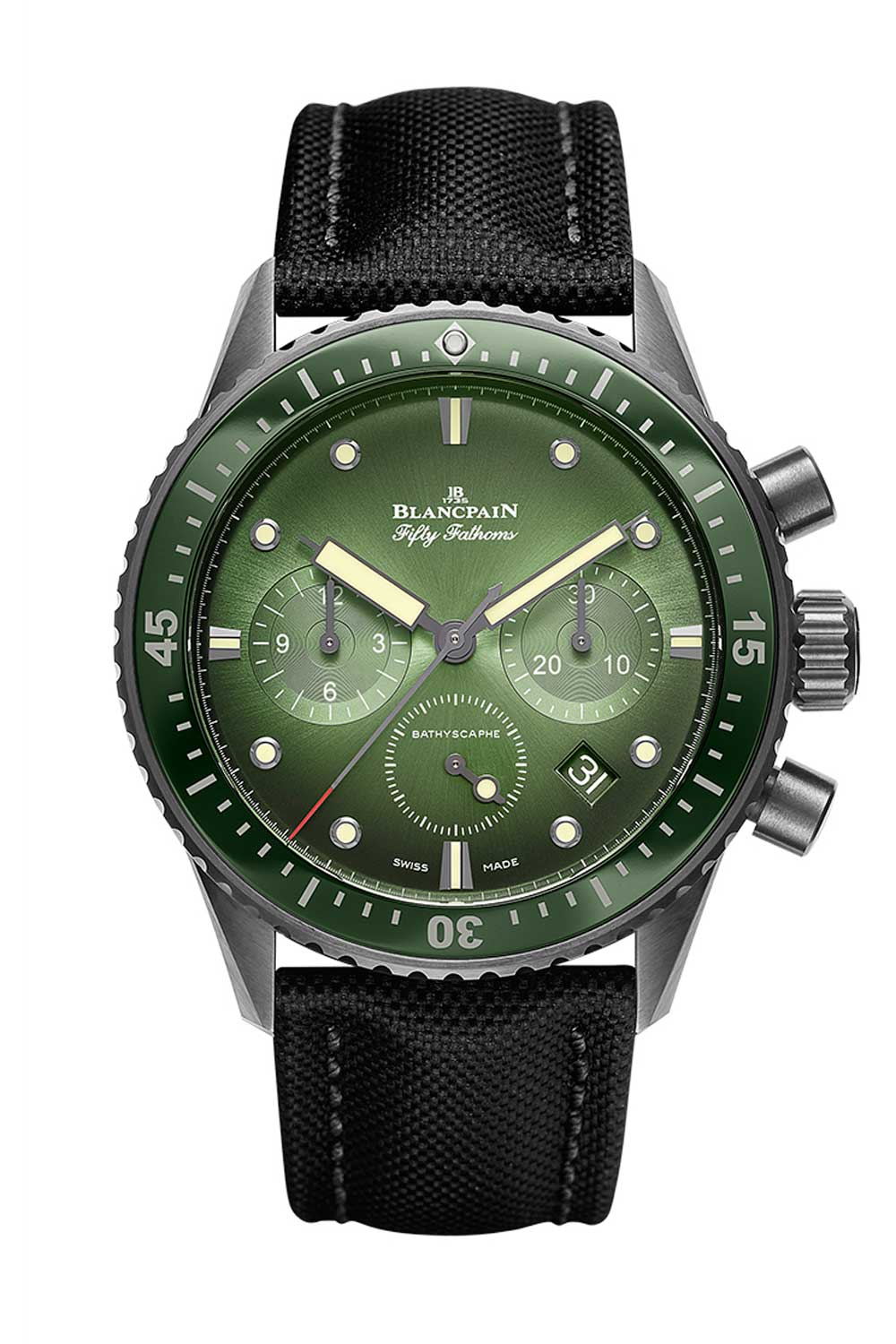 The Fifty Fathoms Bathyscaphe Chronograph Flyback (green)