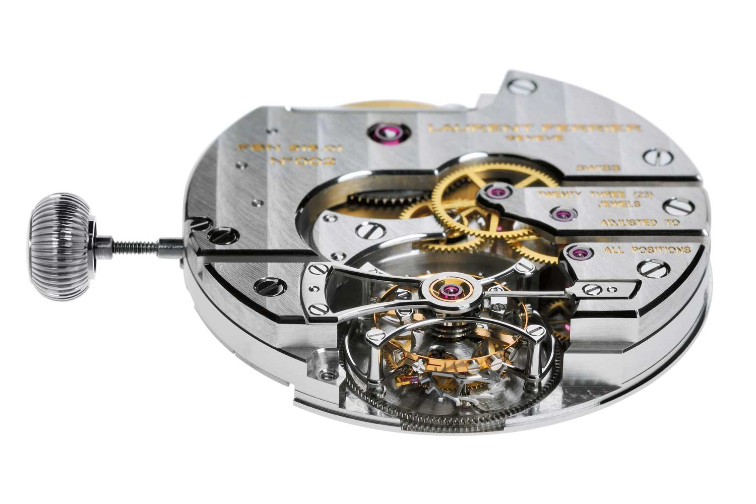 The lascivious use of sharp internal angles and mirror polish on the tourbillon bridge speaks of a great deal of handwork.